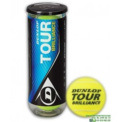 DUNLOP TOUR BRILLANCE Bote de pelotas Tenis 3 bolas 602196