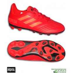 ADIDAS PREDATOR Niños 18.4 Rojo Bota Futbol Hierba Artificial CM8541
