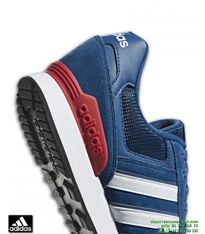 10K F34458 Hombre Zapatilla ADIDAS Rojo Azul Marino 2I9YbDWeHE