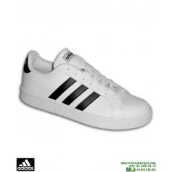 Deportiva Clasica ADIDAS GRAND COURT Blanco-Negro F36392 hombre zapatilla Sneakers moda