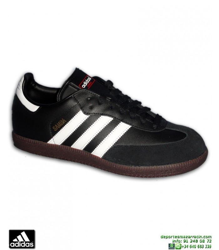 best sneakers 1d4cc f0964 Deportiva Clasica ADIDAS SAMBA Negro Suela Caramelo 019000 hombre