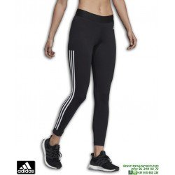 Malla Pantalon Mujer ADIDAS MH 3 Stripes TIGHT Negro-Blanco DU0007