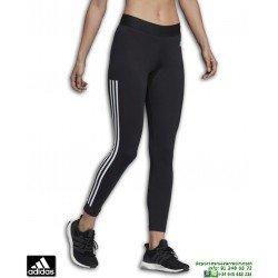 Malla Pantalon Mujer ADIDAS MH 3 Stripes TIGHT Negro-Blanco DU0007
