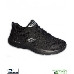 Zapatilla Skechers FLEX ADVANTAGE 2 Dayshow negro hombre Memory Foam 52125/BBK deportiva