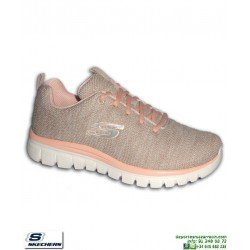 Deportiva Skechers Mujer GRACEFUL Twisted Fortune Natural 12617/NTCL PANTILLA Memory Foam
