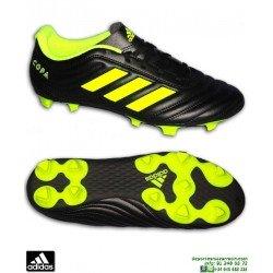 Adidas COPA 19.4 FG Bota Futbol Tacos Negro-Amarillo Hombre