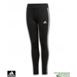 Malla Pantalon Chica ADIDAS YG TR 3 STRIPES TIGHT Negro-Blanco DV2755