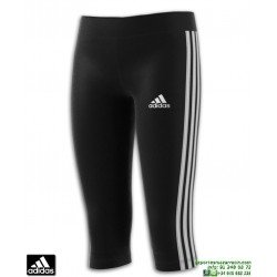 Malla Pirata Chica ADIDAS YG TR 3 STRIPES 3/4 TIGHT Negro-Blanco DV2760
