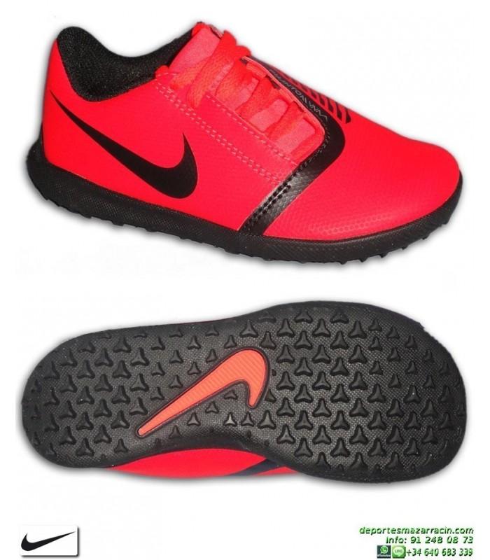 Género África Policía  Nike PHANTOM VENOM CLUB Niño Roja Zapatilla Futbol Turf AO0400-600