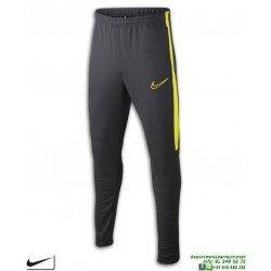 Pantalón Chandal Ajustado NIKE Academy Pants Junior Gris-Amarillo niños AO0745-061
