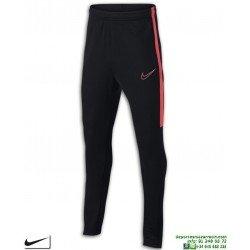 Pantalón Chandal Ajustado NIKE Academy Pants Junior Negro-Rojo niños AO0745-015