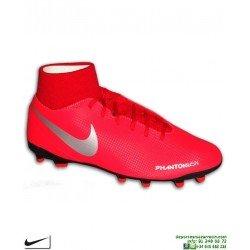 Nike PHANTOM VSN CLUB DF Roja Bota Futbol Calcetin taco FG/MG AJ6959-600