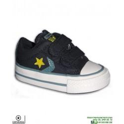 Zapatilla Infantil CONVERSE STAR PLAYER 2 Velcros OX Azul Marino 763528C