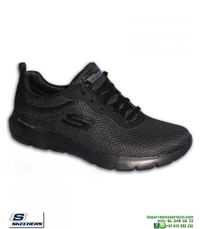 Skechers Empire Take Charge, Zapatillas para Mujer Negro
