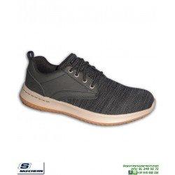 Skechers DELSON FondoStreetwear  Gris-Crema plantilla Memory Foam 65641/BLK Deportiva
