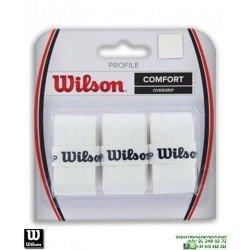 Overgrip Wilson PROFILE COMFORT Blanco recambio grip tenis WRZ4025WH padel