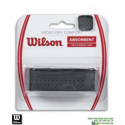differently bed9a df61e Grip Wilson MICRO DRY PERFORATED Puño raqueta Tenis negro WRZ4211BK