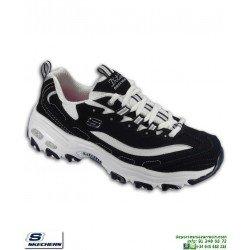 designer fashion d5021 c3b69 Zapatilla Skechers D LITES BIGGEST FAN Negro-Blanco