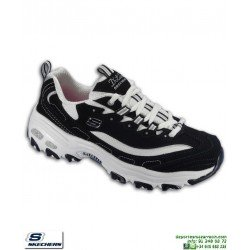 Zapatilla Skechers D'LITES BIGGEST FAN Negro-Blanco