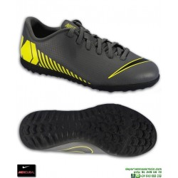 c4ab648f Nike MERCURIAL VAPOR 12 CLUB Niño Gris-Amarillo Zapatilla Futbol Turf