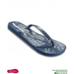 Chancla Mujer IPANEMA ANAT NATURE 3 Azul Sandalia Flores 82525-21724 piscina