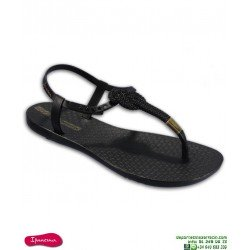 Sandalia IPANEMA CLASS GLAM II Mujer Negro-Dorado 26207-20780