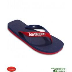 Chancla HAVAIANAS CASUAL Azul Marino-Rojo Sandalia Hombre 4103276-4629