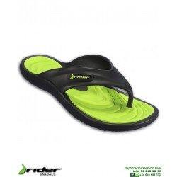 Chancla RIDER CAPE 12 Negro-Verde Sandalia Hombre 82564-20534
