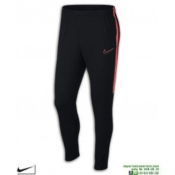 Pantalón Chandal Ajustado NIKE Academy Pants Negro-Rojo Hombre AJ9729-013