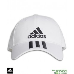 Gorra ADIDAS 3 STRIPES CAP COTTON Blanca DU0197 visera