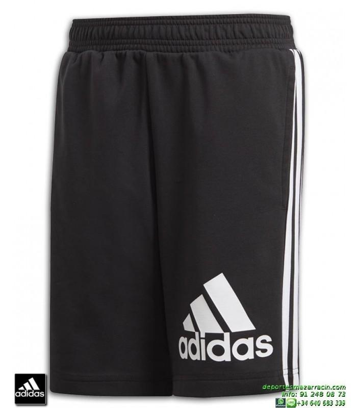 Pantalon Corto ADIDAS Junior MH BOS SH SHORT Negro Blanco DV0802