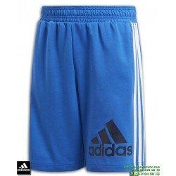 Pantalon Corto ADIDAS Junior MH BOS SH SHORT azul-Blanco DV0809
