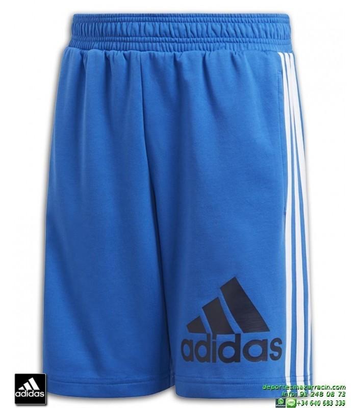Pantalon Corto ADIDAS Junior MH BOS SH SHORT azul Blanco DV0809