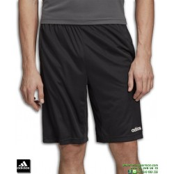 Pantalon Corto ADIDAS D2M COOL 3Stripes Negro-Blanco DT3050 poliester tenis padel gimnasio deporte