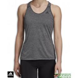 Camiseta Mujer ADIDAS TECH PRIME TANK Gris DU3447 tirantes poliester