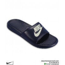 Chancla Nike BENASSI JDI color azul marino Sandalia de pala unisex 343880-403