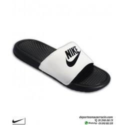 Chancla Nike BENASSI JDI color negro con blanco Sandalia de pala unisex 343880-100