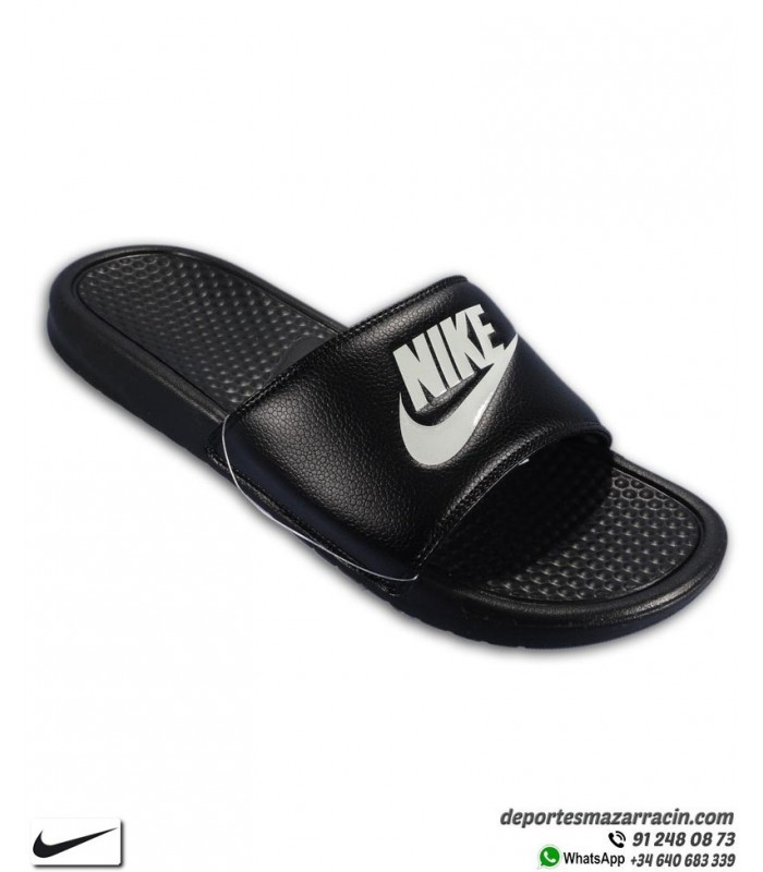 Ilegible colchón Más lejano  ▷ Chancla Nike BENASSI JDI Hombre Negra con Blanco