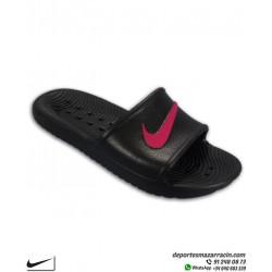 KAWA SHOWER Chancla Nike Chica color Negro con Rosa Sandalia mujer BQ6831-002