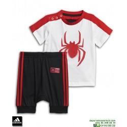 Conjunto SPIDERMAN Camiseta y Short ADIDAS Bebe DV0833 algodon manga corta niño marvel