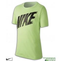 Camiseta Deporte NIKE Junior DRI FIT Verde AQ9554-315 niño Poliester