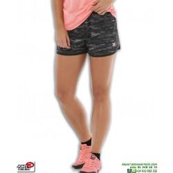 Short Running Mujer AZURA Negro-Rosa john smith correr