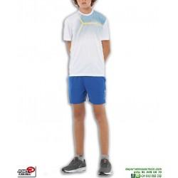 Conjunto Camiseta y Short Junior John Smith MONTUX Blanco-Azul poliester pantalon corto