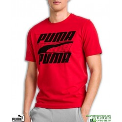Camiseta PUMA REBEL TEE Roja Manga Corta Algodon  854150-11 Hombre