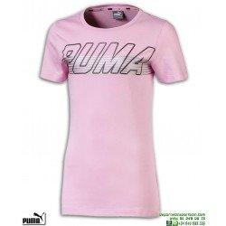 Camiseta Chica PUMA ALPHA LOGO TEE Rosa algodon 854244-21 manga corta