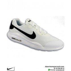 Zapatilla Nike AIR MAX OKETO Junior color Blanco con Negro deportiva Camara de Aire AR7419-100