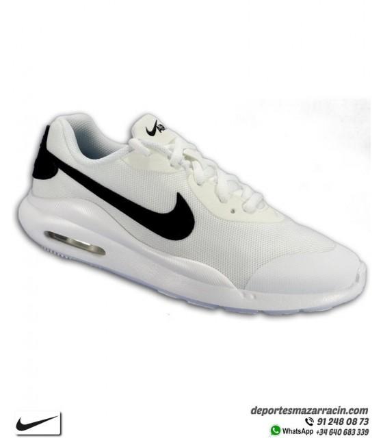 deabb962d Zapatilla Nike AIR MAX OKETO Junior color Blanco con Negro deportiva Camara  de Aire AR7419-
