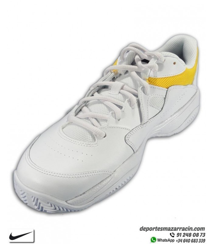 Cly Amarillo Zapatilla Court Lite Suela Espiga Blanco Tenispadel Nike n0vwyON8m