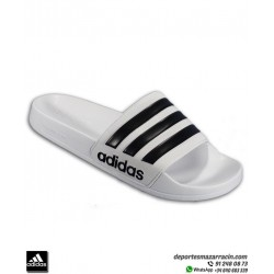 Chancla ADIDAS ADILETTE SHOWER Blanco con Negro