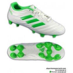 Bota Futbol Adidas COPA 19.4 FG Tacos COLOR Blanco con Verde Hombre D98069 Estilo clasico